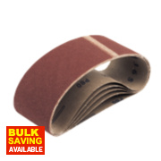 Cloth Sanding Belts 75 x 533mm 80 Grit Pack of 5