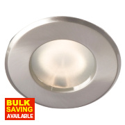 Robus Fixed Round Low Voltage Bathroom Downlight Brushed Chrome 12V