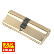 Securefast 6-Pin Euro Cylinder Lock 40-45 (85mm) Polished Brass