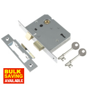 Century 3-Lever Mortice Sashlock Chrome Plated 2.5