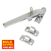 Lockable Casement Fastener Polished Chrome 140mm