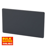 Varilight Jet Black Double Blank Plate