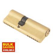 ERA 6-Pin Euro Cylinder Lock 35-50 (85mm) Brass