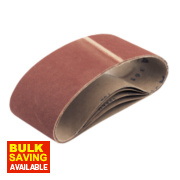 Cloth Sanding Belts Unpunched 100 x 610mm 80 Grit Pack of 5