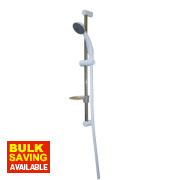 Swirl Xeron Shower Kit Modern Design White/Chrome