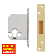 Securefast Euro Cylinder Deadlock Polished Brass 2½