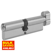 Yale 6-Pin Euro Cylinder Thumbturn Lock 35-35 (70mm) Satin Nickel