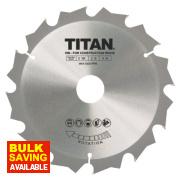 Titan TCT Circular Saw Blade 12T 184 x 16/20/30mm