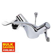 H & C ¼ Turn Commercial Bathroom Basin Lever Mixer Tap