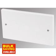 MK 2-Gang Blank Plate White