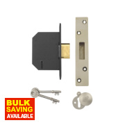 Yale 5 Lever Deadlock Polished Brass 3
