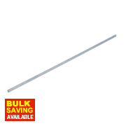 Easyfix Bright Zinc-Plated Steel Threaded Rods M6 x 300mm Pack of 5