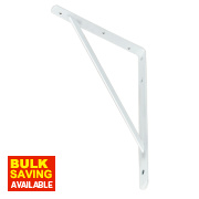 Heavy Duty Industrial Bracket White 395 x 270mm Pack of 2