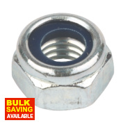Easyfix Nylon Lock Nuts BZP Steel M6 Pack of 100