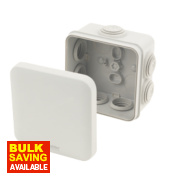 7-Entry Junction Box with Knockouts Grey 88 x 88 x 53mm