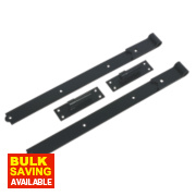 Gate Hinge Pack Powder-Coated Black 50 x 610 x 165mm