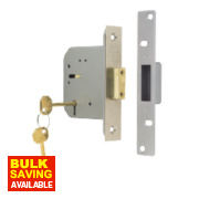 ERA 5-Lever Mortice Deadlock Satin Nickel 3