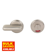 WC Door Handle Satin Chrome 50mm