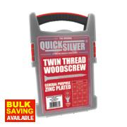 Quicksilver Woodscrews Trade Case Grab Pack Double-Countersunk 1000Pcs
