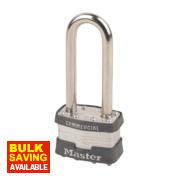 Master Lock Laminated Padlock with Long Shackle 44mm