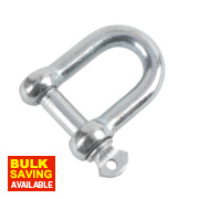 Hardware Solutions D-Shackle M12 Zinc-Plated Pack of 10
