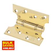 Eclipse Parliament Hinge Electro Brass 102 x 102mm Pack of 2