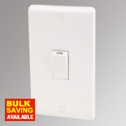 LAP 2-Gang 45A DP Cooker Switch White