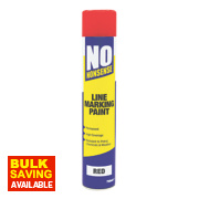 No Nonsense Line Marking Paint Red 750ml