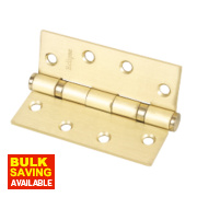 Grade 11 Ball Bearing Hinges Electro Brass 102 x 76mm Pk3