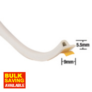 Stormguard EPDM Rubber P Strip White 20m