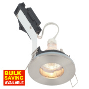 LAP Fixed Round Low Voltage Bathroom Downlight Brushed Chrome 12V