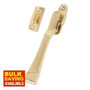 Traditional Window Fastener Polished Brass 48mm x 12mm