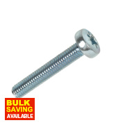Rawlplug BZP Pan Head Machine Screws M5 x 30mm Pack of 25