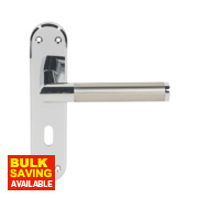 Serozzetta Scope Lock Door Handle Pair Pol. Chr / Sat. Nkl