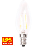 LAP Candle LED Lamp Clear SES 2W
