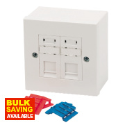 Philex RJ45 CAT5E Module Outlet Kit Double