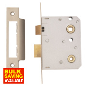 ERA Bathroom Lock Chrome Effect 26 x 76mm