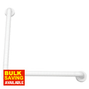 Elderly & Disabled Bathroom Grab Bar Anti-Bacterial ABS 450 x 76 x 450mm