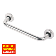 D Pull Handle Satin Aluminium 225mm