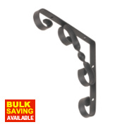 Decorative Stay Bracket Black 150 x 150mm Pack of 2
