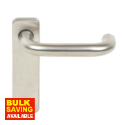 Lever Door Handle Type A Pair Satin Stainless Steel