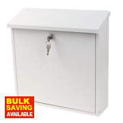Sterling Contemporary Post Box White