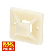 2-Way Adhesive Base Natural 19 x 19mm Pack of 100