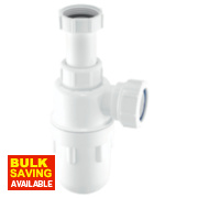 McAlpine Adjustable Inlet Bottle Trap 32mm White