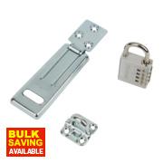 Master Lock Hasp & Staple with Combi Padlock 115mm