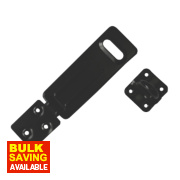 Smith & Locke Hasp & Staple Black 118mm