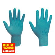 Ansell Touch N Tuff 92-600 Nitrile Powder-Free Disposable Gloves Teal Large Pk100