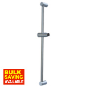 Swirl Tubular Standard Modern Riser Rail S/Steel Chrome 642mm