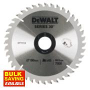 DeWalt 190x30mm 40T TCT Circular Saw Blade