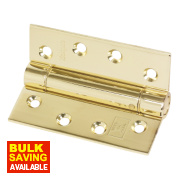 Adjustable Self-Closing Hinge Electro Brass 76 x 102mm
